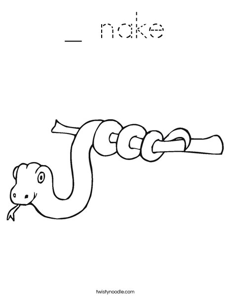 Snake on a Stick Coloring Page