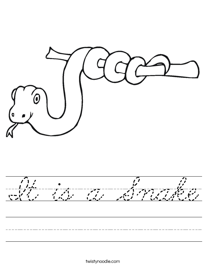 It is a Snake Worksheet