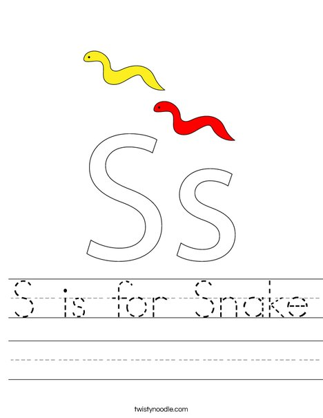 Snake with Dots Worksheet