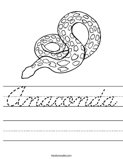 Spotted Snake Worksheet