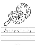 Anaconda Handwriting Sheet