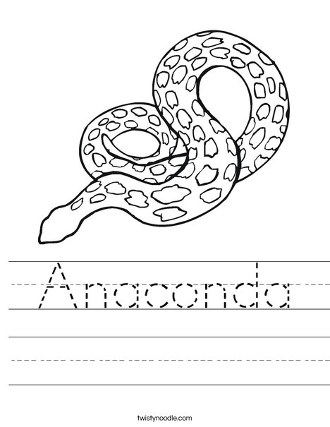 Spotted Snake Worksheet