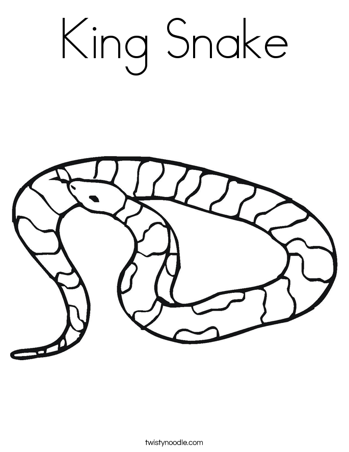 King Snake Coloring Page Twisty Noodle