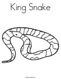 King SnakeColoring Page
