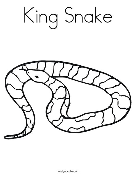 King Snake Coloring Page - Twisty Noodle