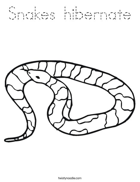 Striped Snake Coloring Page