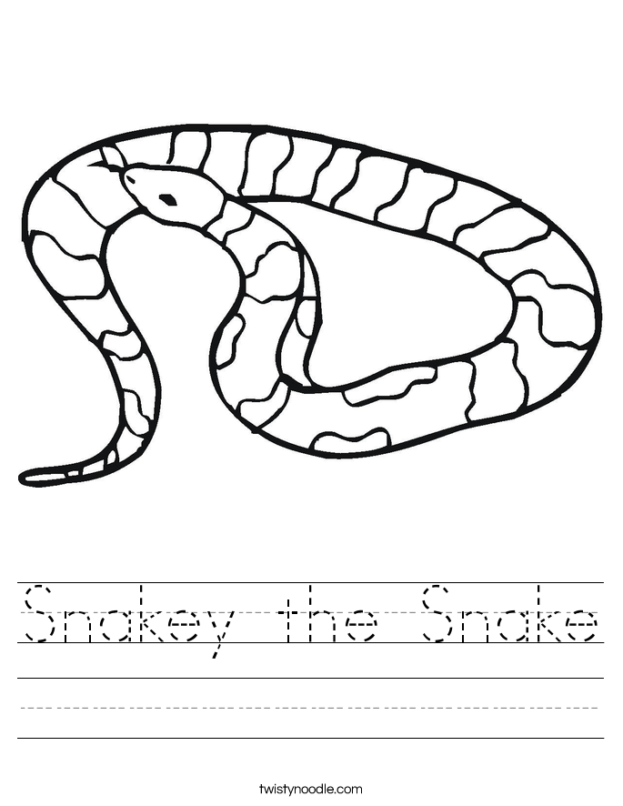 Snakey the Snake Worksheet