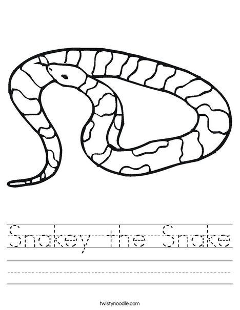 Striped Snake Worksheet