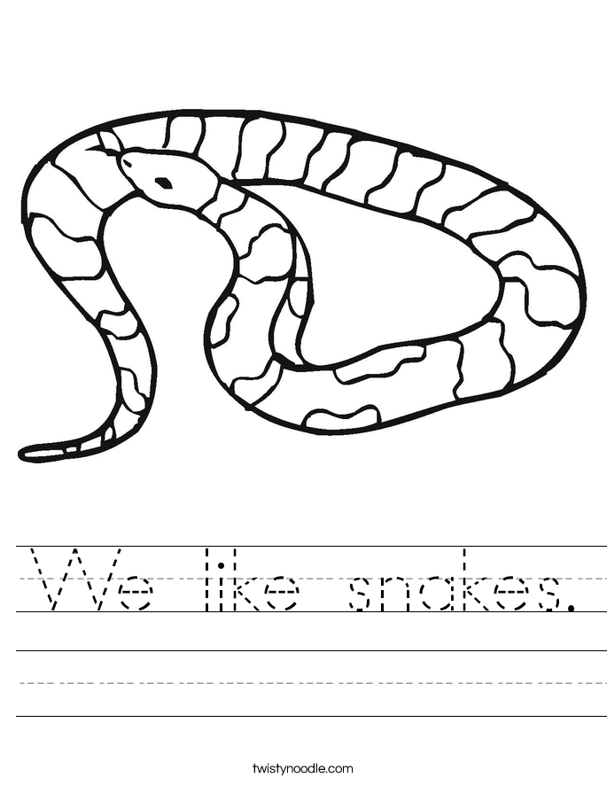 We like snakes. Worksheet