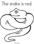 The snake is red. Coloring Page