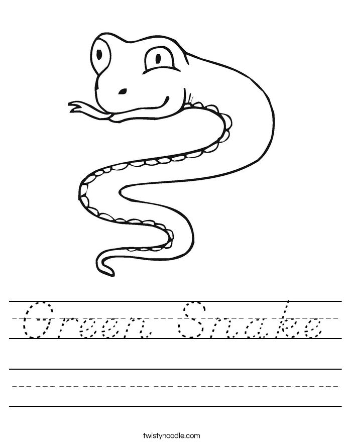 Green Snake Worksheet