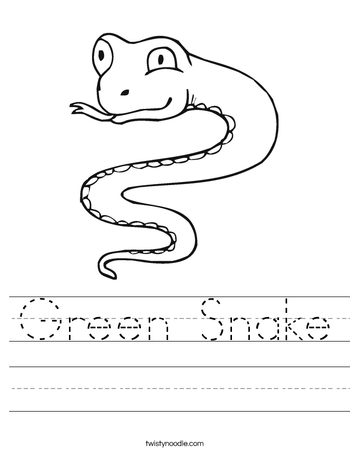 Green Snake Worksheet