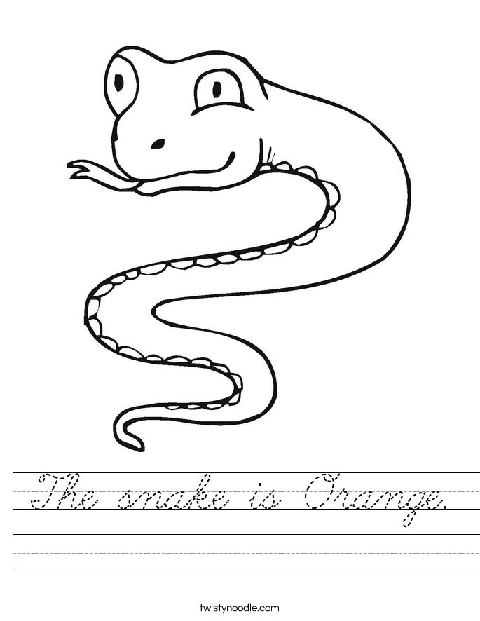 The snake is Orange. Worksheet