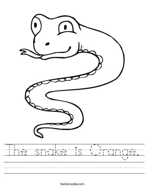 Snake Worksheet