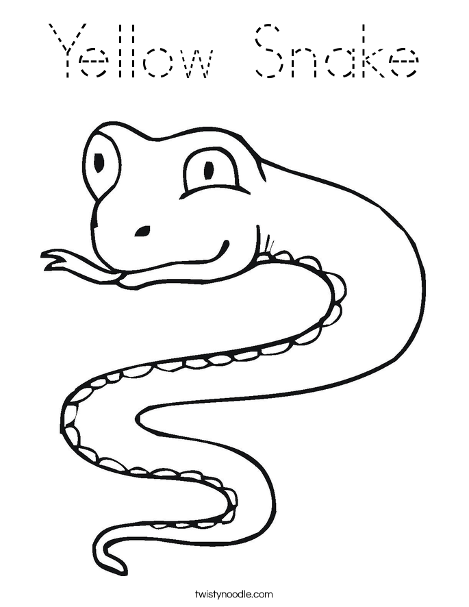 snake outline coloring pages - photo#4