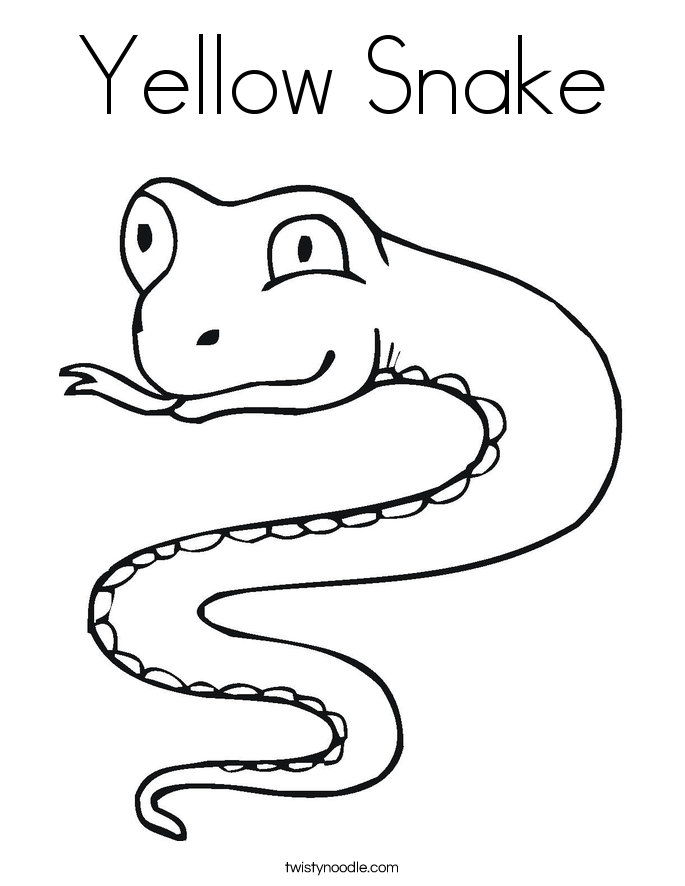 Yellow Snake Coloring Page