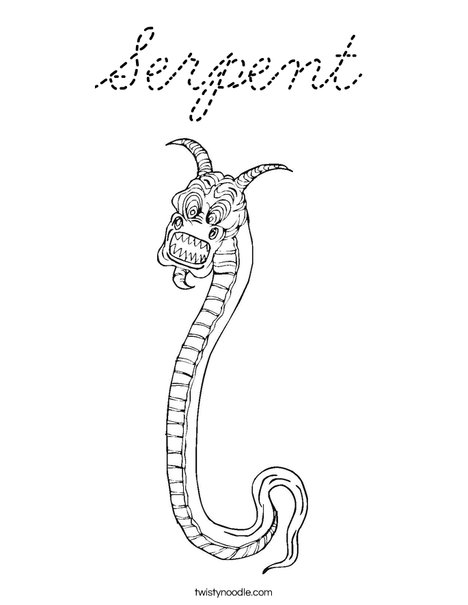 Chinese New Year Snake Coloring Page