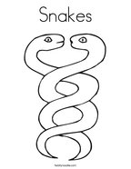 Snakes Coloring Page