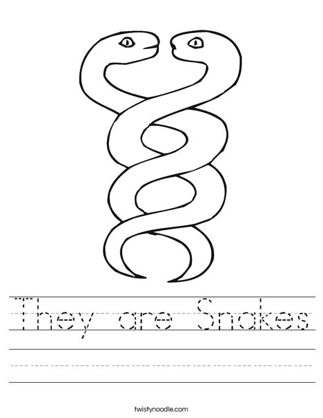 Two Snakes Worksheet