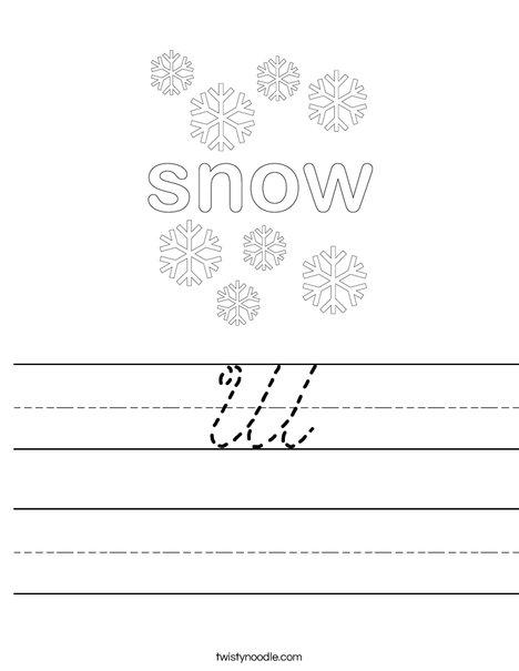 Snow Worksheet