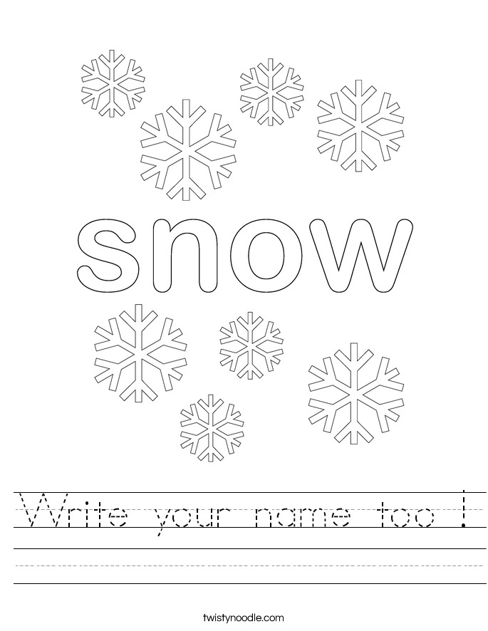 Write your name too ! Worksheet