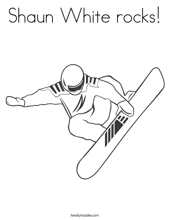 shawn white coloring pages - photo#1