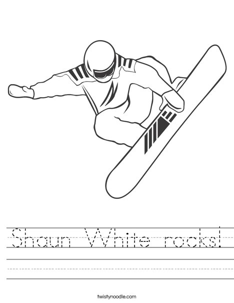 Snowboarder Jumping Worksheet