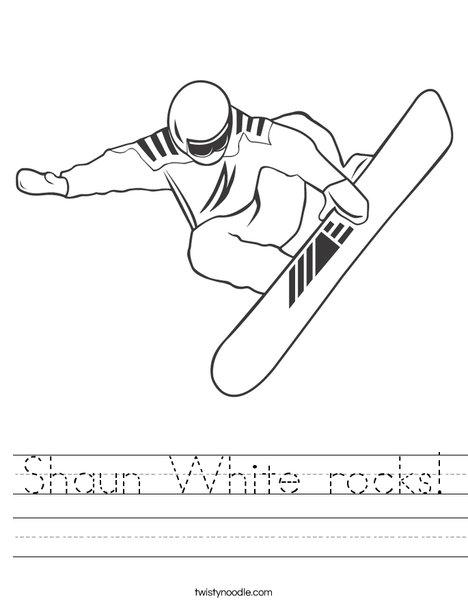 Snowboarder Jumping Worksheet