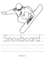 Snowboard Handwriting Sheet