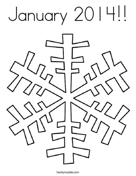 january 2014 coloring page
