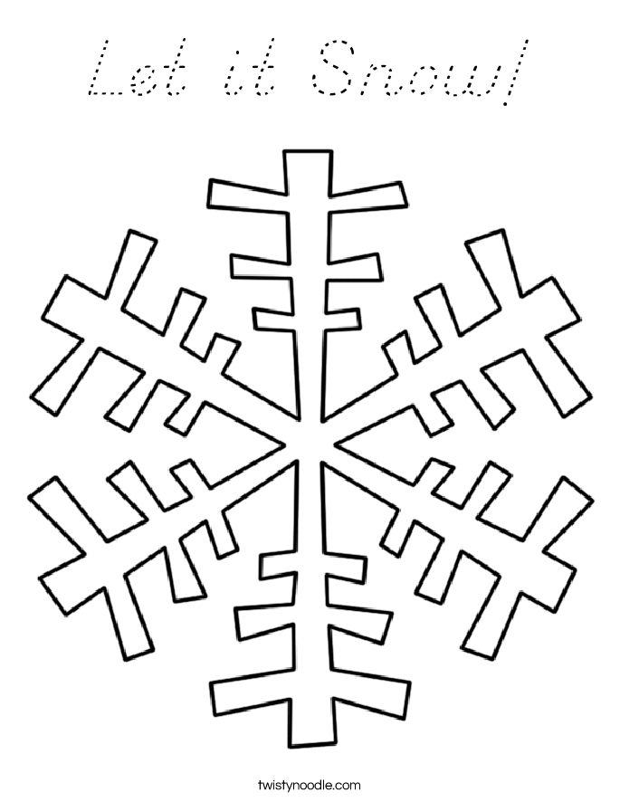 Let it Snow! Coloring Page