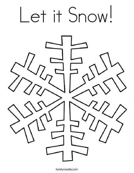 Let it Snow Coloring Page Twisty Noodle