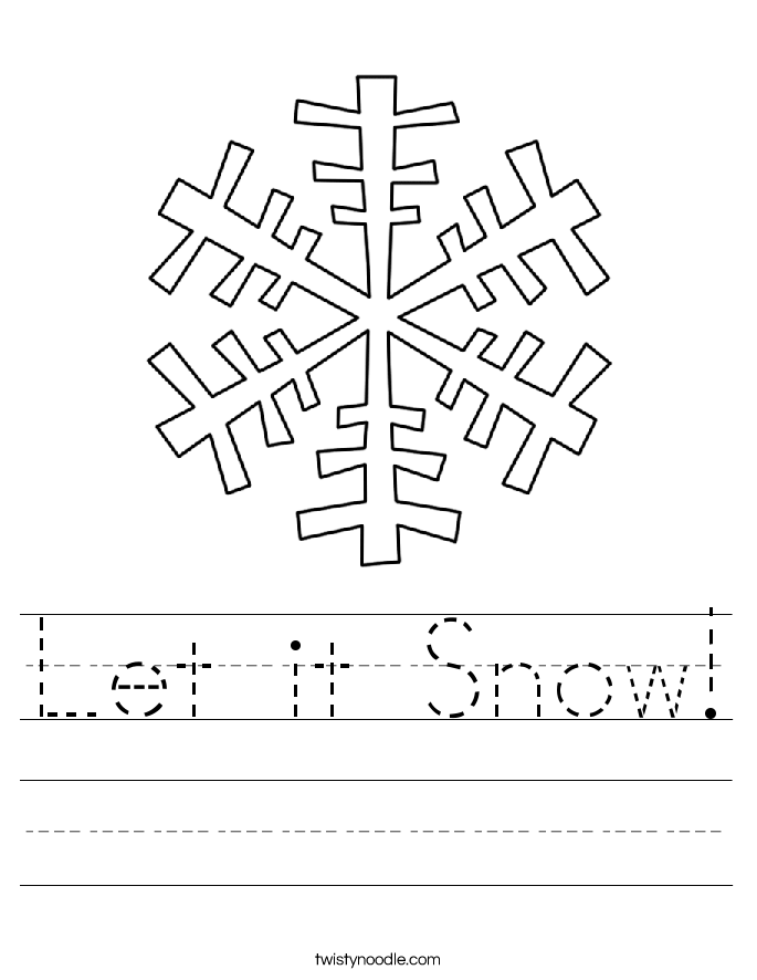 Let it Snow! Worksheet