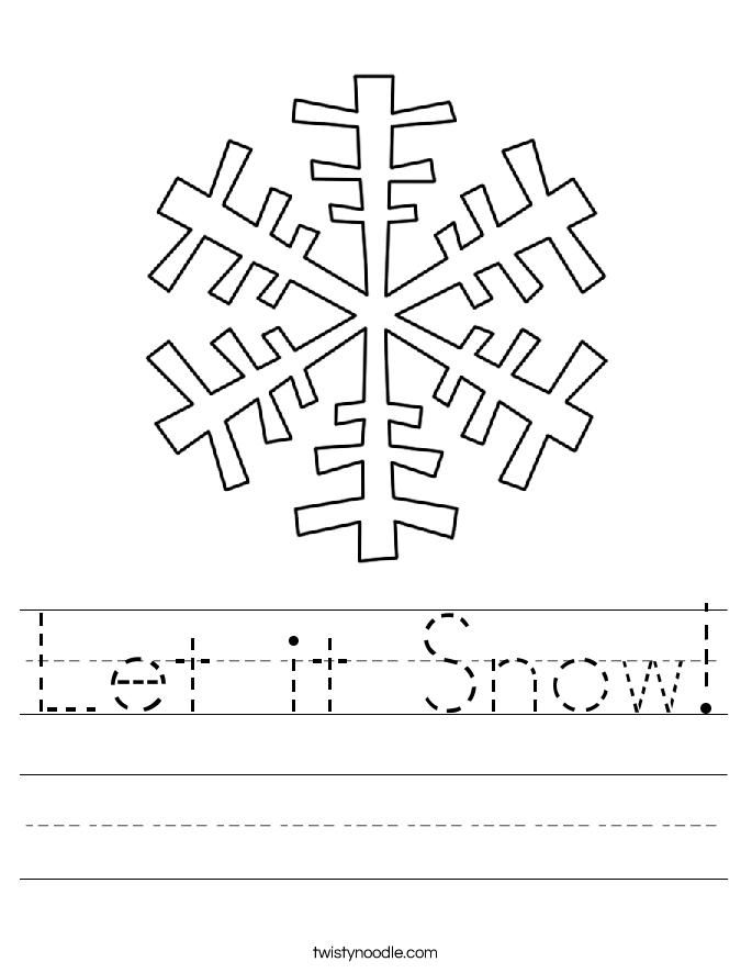 Let it Snow! Worksheet