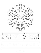 Let it Snow Handwriting Sheet
