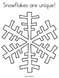 Snowflakes are unique! Coloring Page