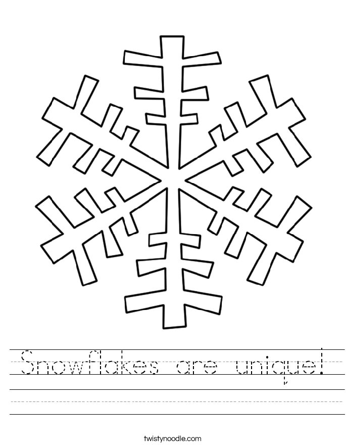 Snowflakes are unique! Worksheet