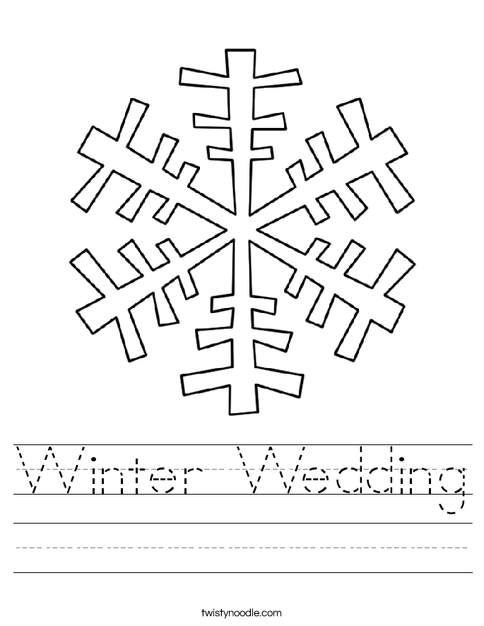 Winter Wedding Worksheet