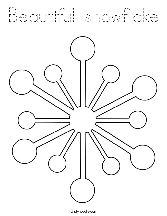 Beautiful snowflake Coloring Page