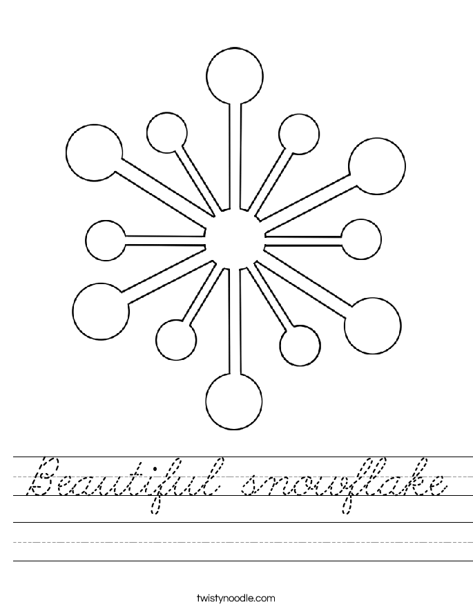 Beautiful snowflake Worksheet