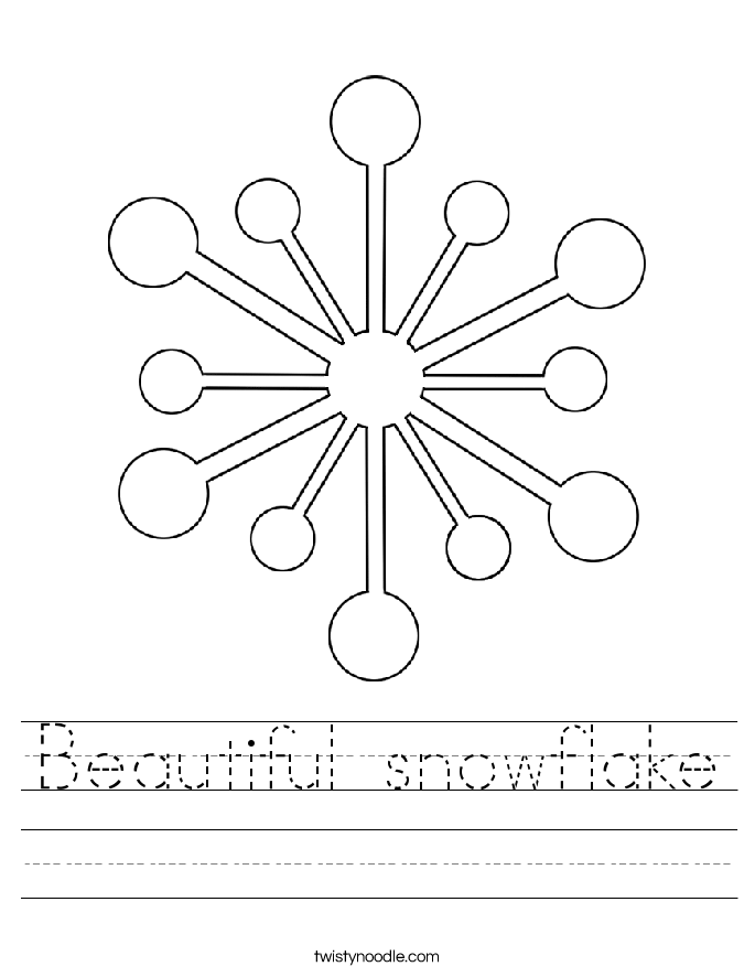 Beautiful snowflake Worksheet