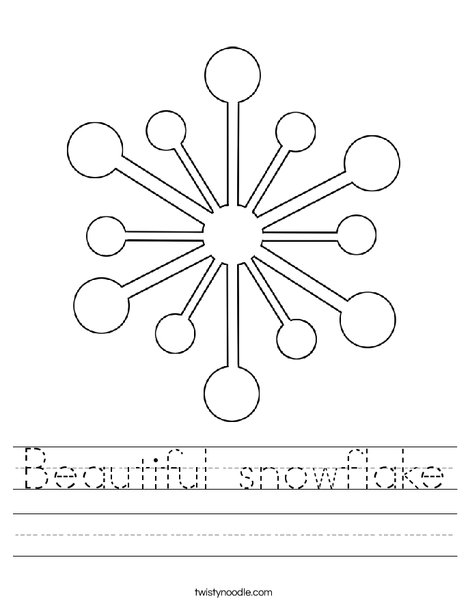 Snowflake Worksheet
