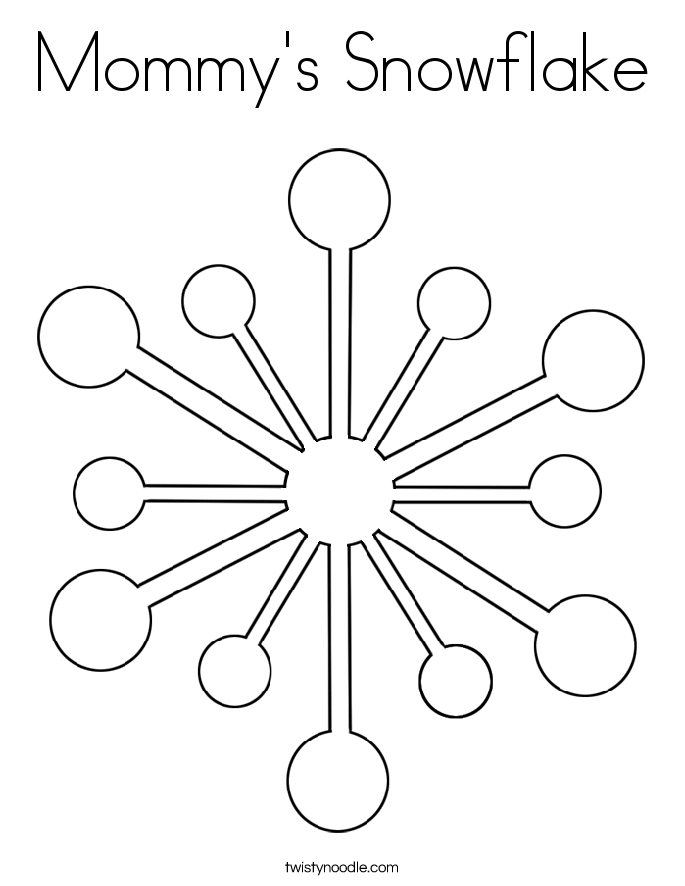 Mommy's Snowflake Coloring Page