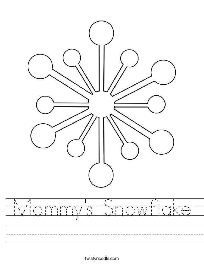 Mommy's Snowflake Worksheet