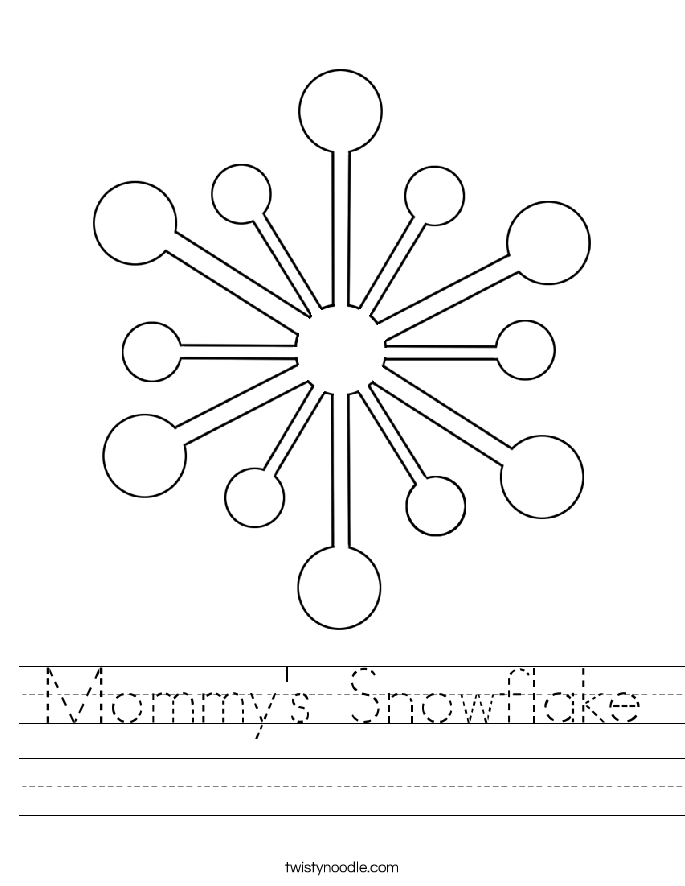 Mommy's Snowflake Worksheet