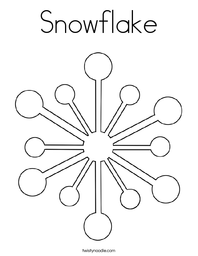snowflake coloring page twisty noodle - Snowflake Coloring Pages
