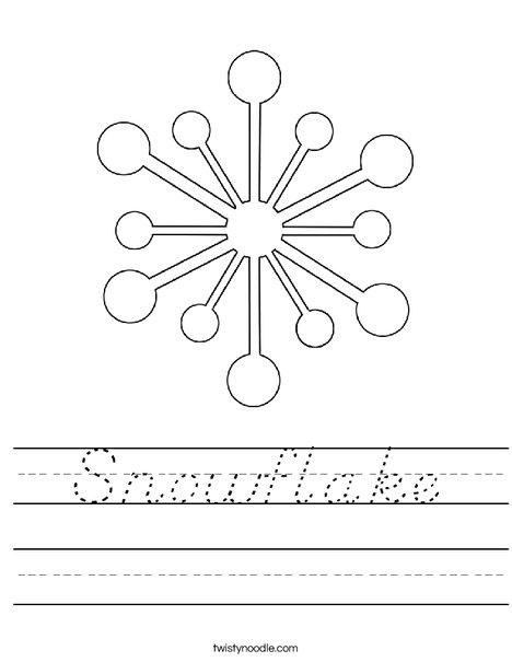 Snowflake Worksheet