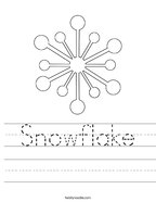 Snowflake Handwriting Sheet