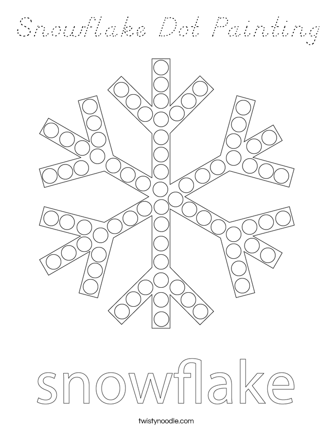 Snowflake Dot Painting Coloring Page