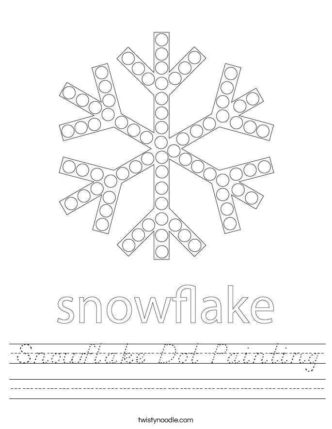 Snowflake Dot Painting Worksheet